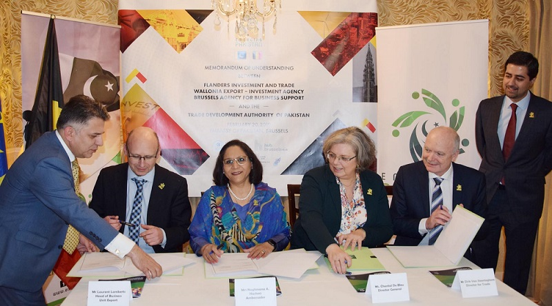 Pakistan and Belgium sign MoU for cooperation in business and investment