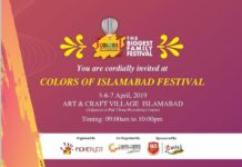 """Colors of Islamabad Festival"" begin on April 5 at Arts & Craft Village Islamabad"