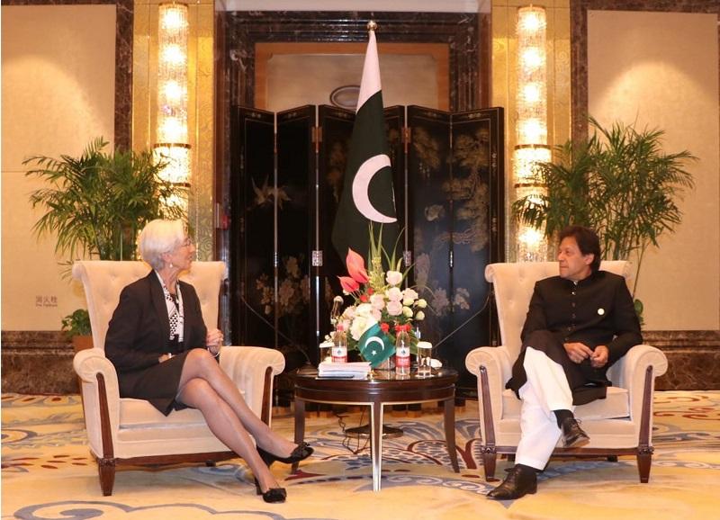 PM Imran Khan meets Managing Director IMF Christine Lagarde in Beijing
