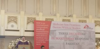 Médecins Sans Frontières remains committed to serve needy people across Pakistan
