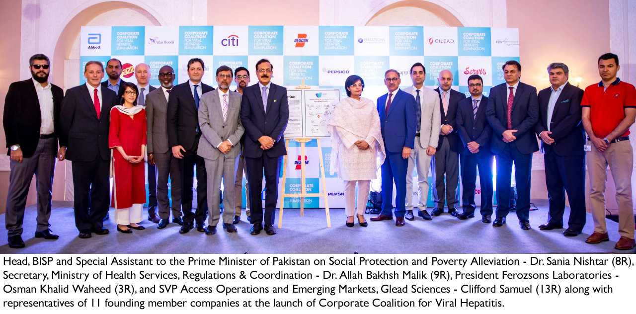 GILEAD announces a corporate coalition to eliminate viral hepatitis in Pakistan by 2030