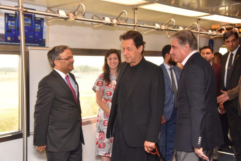 Prime Minister of Pakistan Imran Khan arrived in Washington on a passenger flight of Qatar Airways