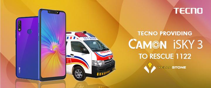 TECNO to provide Camon i Sky 3 to Rescue 1122