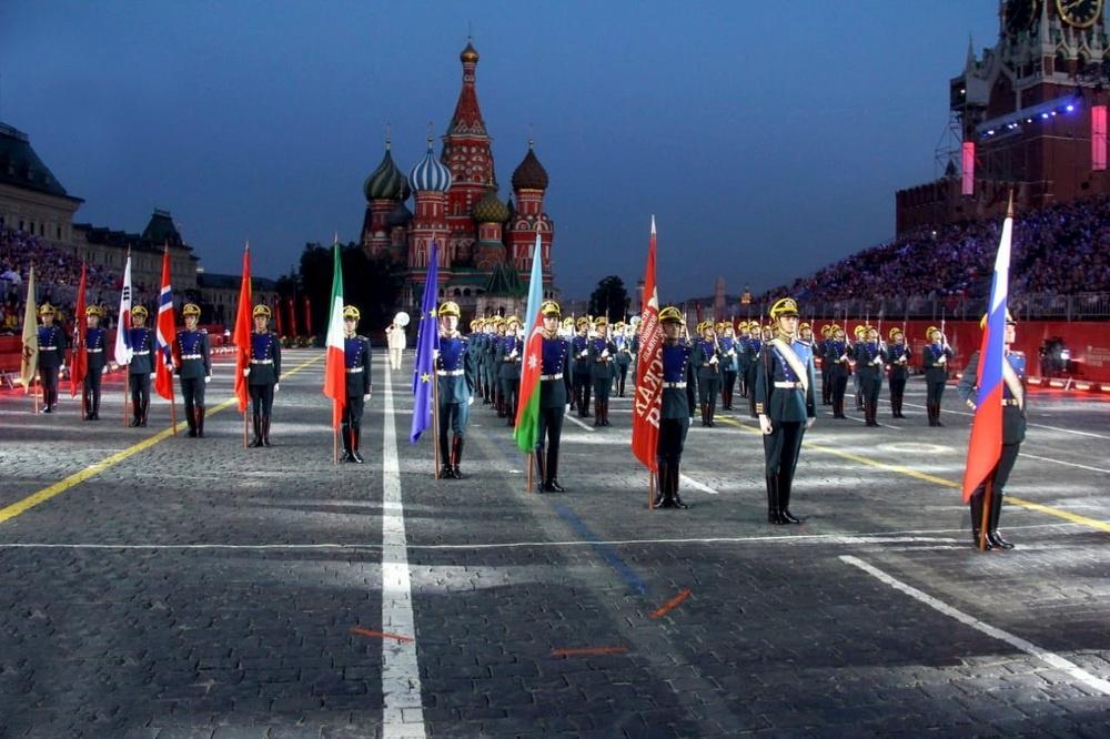 Azerbaijani military band takes part in the 12th Spasskaya Tower International Military Music Festival