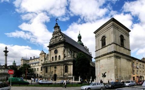 Bernardine Monastery and St. Andrew Church of Lviv, Ukraine