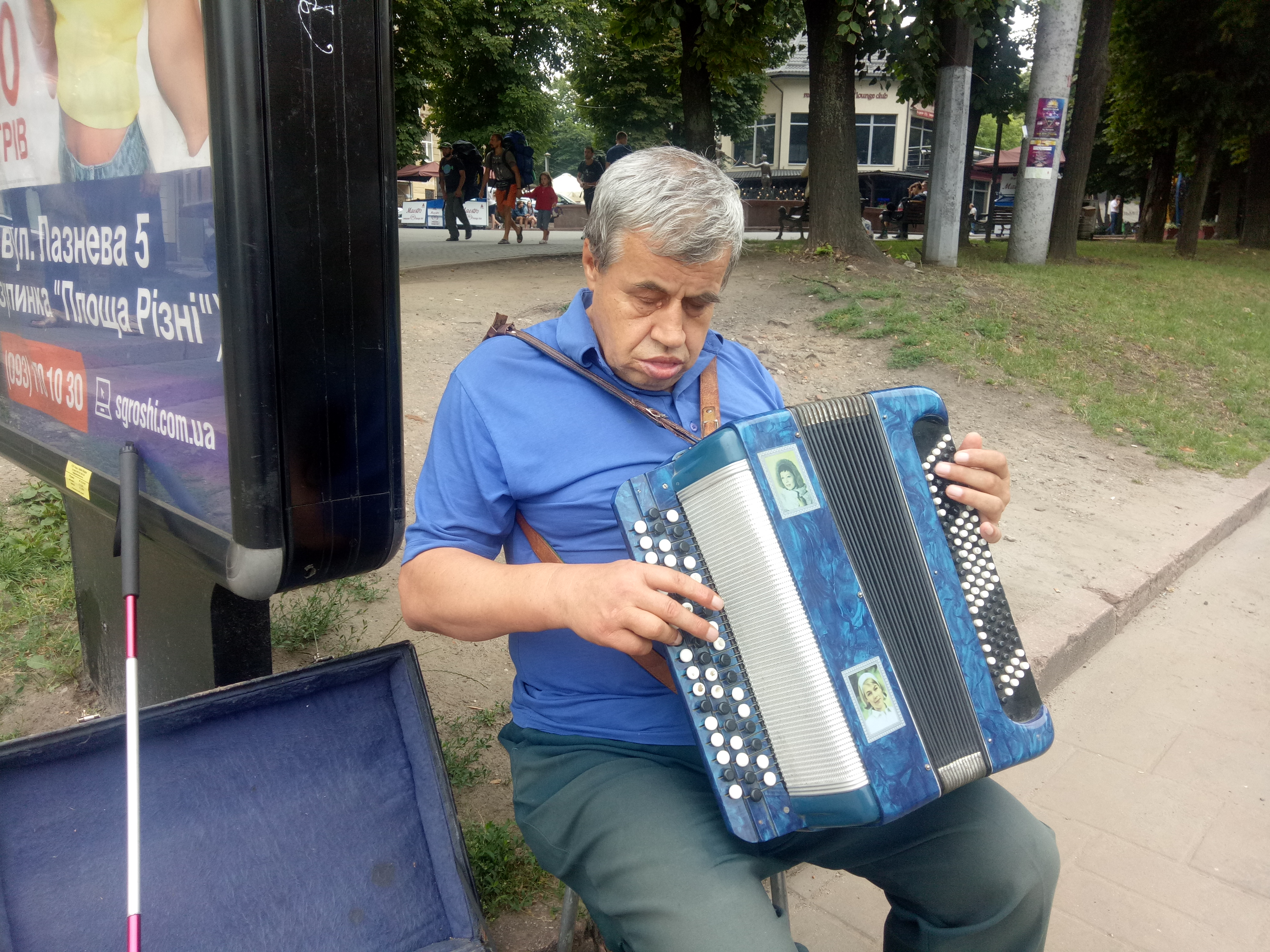 """Another beauty of Lviv is """"Street Musicians"""" who are mostly busy in singing patriotic songs"""
