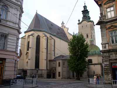 The Archcathedral Basilica of the Assumption of the Blessed Virgin Mary Lviv is usually called as the Latin Cathedral.