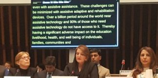 Pakistan's First Lady Samina Alvi attends WHO Conference on Effective Access to Assistive Technology as Chief Guest