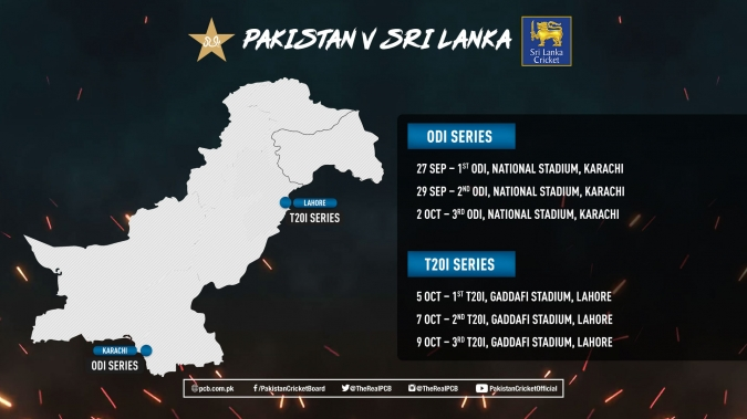Schedule of Sri Lanka's Upcoming Tour of Pakistan