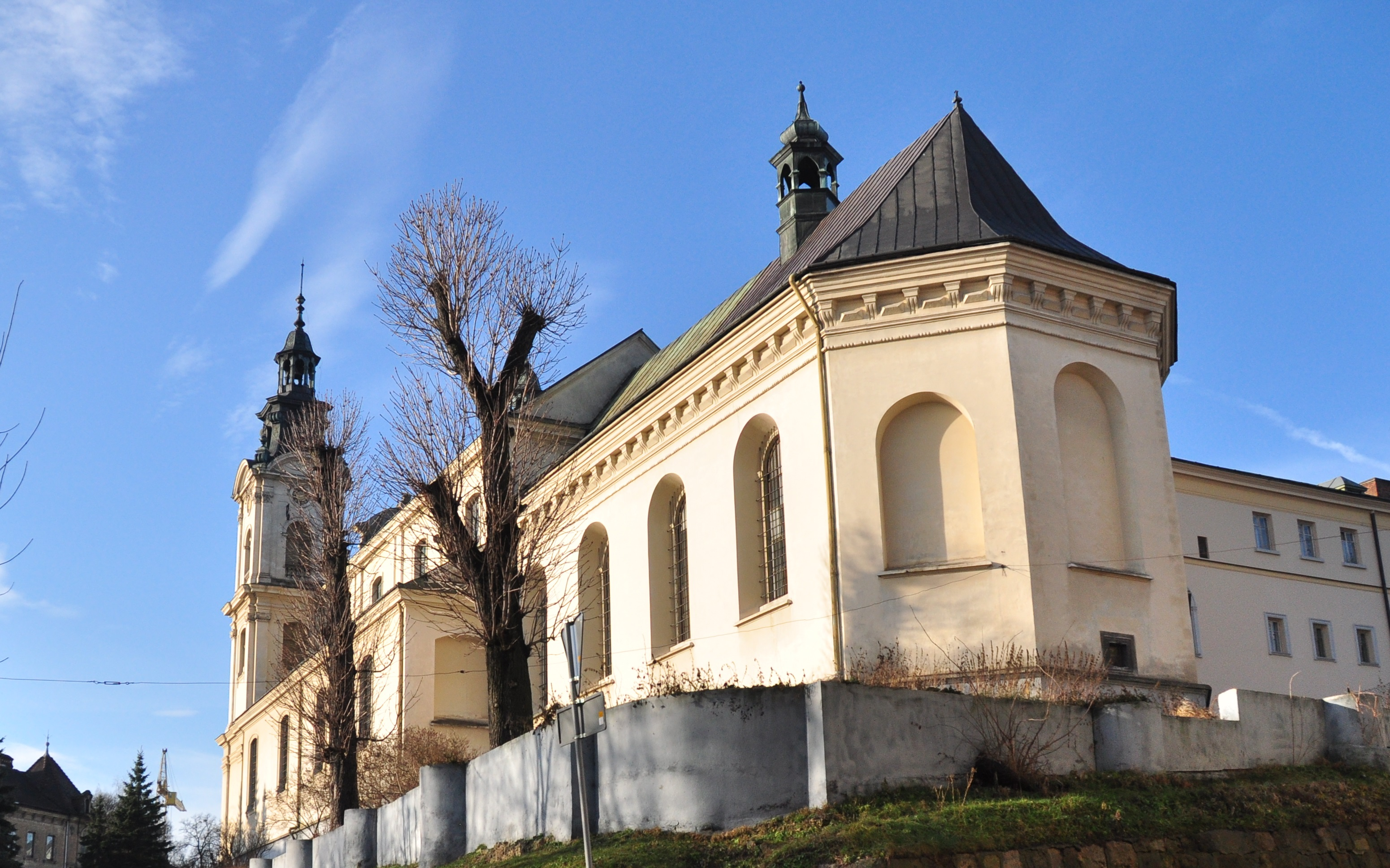 The Roman Catholic church of St. Mary Magdalene is located West of the Old Town of Lviv.
