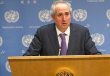 UN Secretary-General's Spokesman, Stephane Dujarric