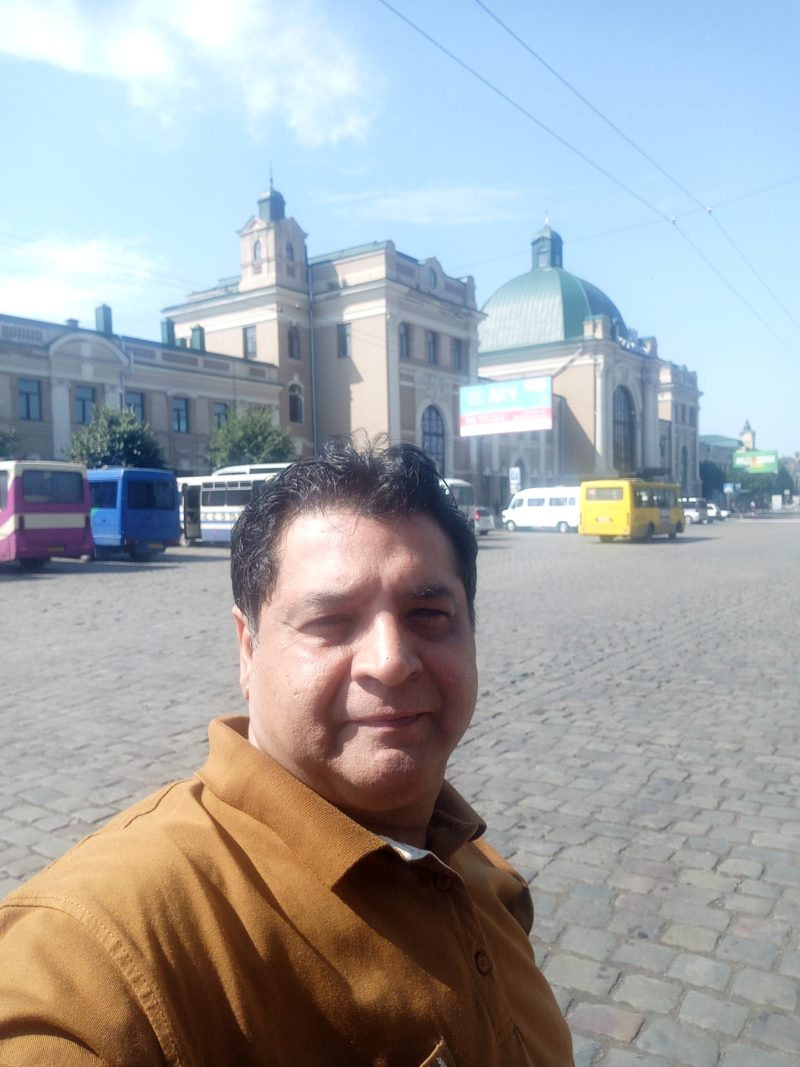 Travel for Cause - Tourism Guide of Ivano Frankivsk. Standing outside Ivano Frankivsk Railway Station