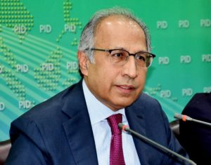 Abdul Hafeez Shaikh - The Prime Minister's Advisor on Finance Dr Abdul Hafeez Shaikh has asked the business community to find new markets for their products and utilize new instruments for the promotion of businesses. While speaking at Pakistan Stock Exchange (PSX) in Karachi on Monday morning, the advisor said that the government is determined to provide a conducive environment to investors in the Country. Abdul Hafeez Shaikh said that no Country can progress without trade and investment with other Countries. The advisor said that a subsidy is being provided to 90 percent consumers of gas and at utility stores to provide relief to the general public. Dr Hafeez Shaikh further said that the business community should contact him in case the sales tax refund is not paid within 72 hours. Earlier, the advisor opened the PSX Trading Session.