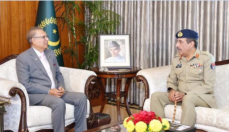 CJCSC Lt General Nadeem Raza Calls On President Arif Alvi