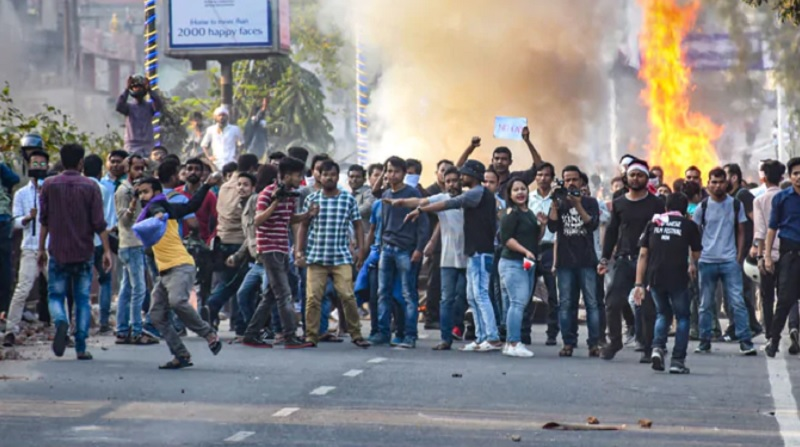 Indian Army and Police killed 7 protestors in Guwahati