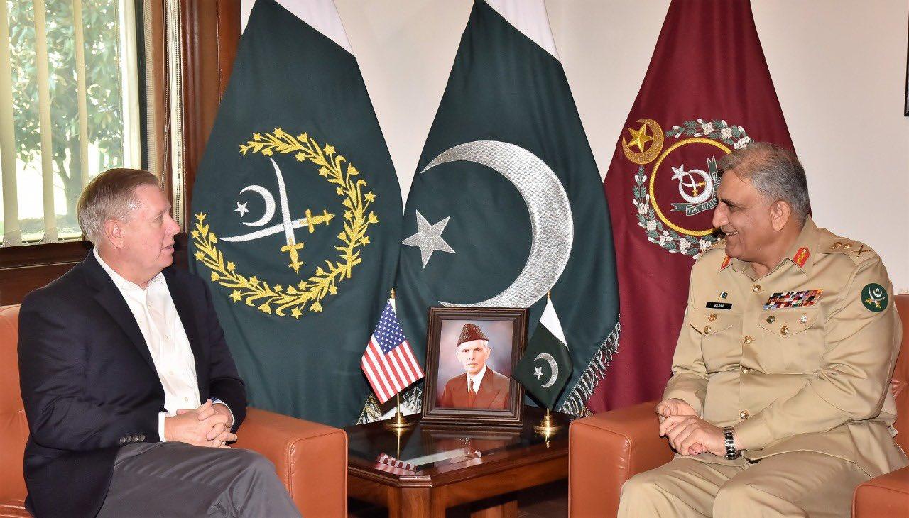 US Senator Lindsey Graham meets COAS General Bajwa