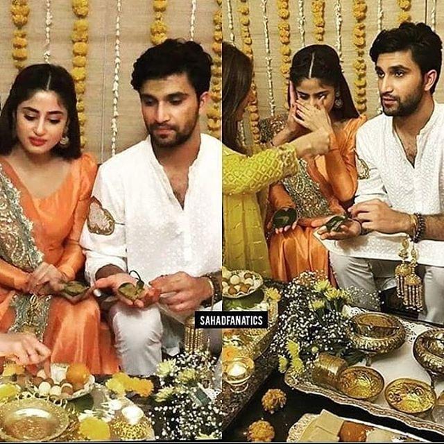sajal ali and ahad wedding pics