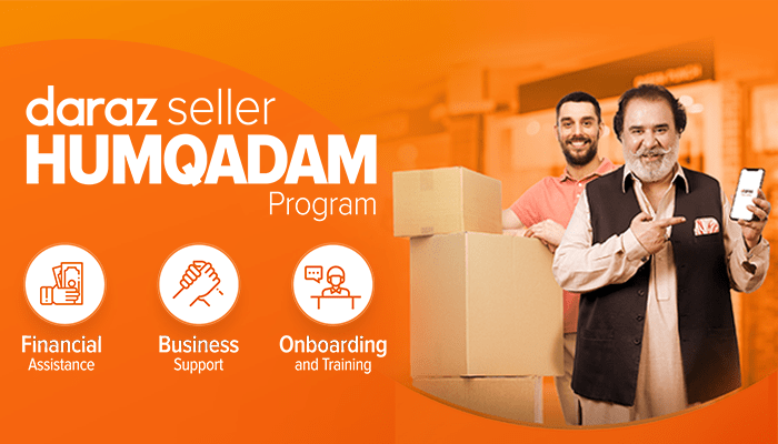 Under the Daraz Humqadam program, small-and-medium businesses are being offered a subsidy of Rs 4.5 crore and being invited to establish their online ventures on the platform with the promise that they will not be charged commission for the months of May and June.