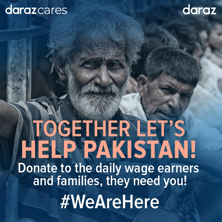 """Daraz Pakistan - Daraz has opened up international payment gateways to enable overseas Pakistanis to donate to non-profit organizations and support daily wage earners and families in the underserved areas of Pakistan as they cope with the impact of Coronavirus. Daraz Cares recently launched """"Together Lets Help Pakistan"""" – a donation campaign."""