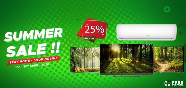 TCL Pakistan has launched the grand summer sale which is starting from Saturday and will end on April 30, 2020. TCL is catering to your entertainment needs by giving up to 25% discount on its LEDs and ACs.