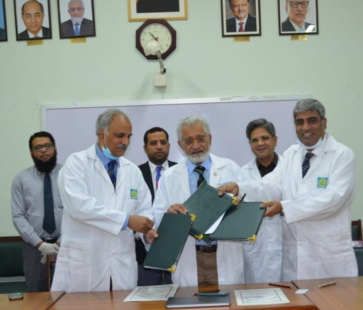 Coronavirus - University of Health Sciences (UHS) and Shaheed Zulfiqar Ali Bhutto Medical University (SZABMU) and Pakistan Institute of Medical Sciences (PIMS) have joined hands to defeat the deadly Coronavirus that wrought havoc across the globe. A Memorandum of Understanding (MOU) has been signed between UHS, SZABMU and PIMS for collaboration on various aspects of research in COVID-19.