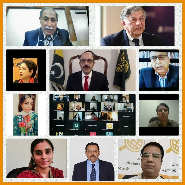 """Sardar Masood Khan - The President of Azad Jammu and Kashmir Sardar Masood Khan has said that around two million Hindus will be settling in Indian Occupied Jammu & Kashmir (IOJ&K) in the first wave under the new law introduced by India, enabling the non-natives to reside in the valley. In his remarks at a Webinar organized by the Center for Global & Strategic Studies (CGSS) on Tuesday on the topic, """"Latest Situation in Kashmir Vis-À-Vis Indian Policies"""" on Tuesday, Sardar Masood Khan said that the Indian law gives non-Kashmiri residents permission and further facilitates the non-natives in acquiring permanent residence in IOJ&K. In this way, Kashmir will be turned into a Hindu state and Muslim majority will be reduced, he added. """"Kashmir is under a triple lockdown,"""" he remarked. Sardar Masood Khan said that the 5th August act is a siege and its purpose is to kill people. He said that India has violated the ceasefire at the Line of Control (LoC) a number of times while targeting the civilians which has caused damage to the infrastructure also. The Azad Jammu and Kashmir president further said that crimes that are being committed there can be listed as crimes against humanity, genocide war crimes and ethnic cleansing. So the International Community of the multilateral institutions are directly relevant here. Therefore, we must engage them because this lack of engagement is making India prevalent. The Webinar was organized to examine the prevailing situation in the Indian Occupied Jammu & Kashmir (IOJ&K) while analyzing the Indian strategies and what can be the possible policy options for Pakistan. While speaking in the Webinar, the former Governor of Punjab Lieutenant General (retd) Khalid Maqbool shared valuable insight regarding latest situation on the LoC and possibility of a military conflict. Lieutenant General (retd) Khalid Maqbool stated that the grand strategy of India is to destabilize Azad Kashmir and Gilgit-Baltistan. We can expect increased activities on t"""