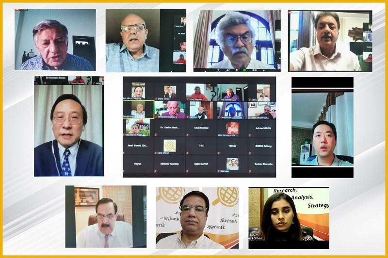 """CGSS - The Center for Global & Strategic Studies (CGSS) on Wednesday organized a Webinar """"China-India Border Standoff & Strategic Implications for Islamabad"""". The aim of the Webinar was to discuss the recent border tensions between China-India and its impact on regional security and stability. Commencing the Webinar, the President CGSS Major General (retd) Khalid Amir Jaffery said that China has never been an expansionist state and has never followed an aggressive policy. However, India has continued to follow its traditional policy of absorbing territory gradually. They have been doing this to Pakistan and now China. It is clear that China is no longer reluctant to act militarily if its core interests are threatened. The former Foreign Secretary of Pakistan Riaz Khokhar said that India came up with new maps, thereby prompting the whole crisis. It has been vocal about not only recovering Azad Kashmir but Gilgit-Baltistan and Aksai Chin as well. India is now projecting itself as a victim and seeks attention from western powers especially the United States, as in the US there is mounting anti-China sentiment and China is seen as a challenger to its global status. The Chair Professor at Soochow University & Vice President at Center for China & Globalization in Beijing Victor Zhikai GAO mentioned the Tonya- Harding syndrome in China-US relations. Victor Zhikai GAO said that the goal of whacking Chinese kneecaps to prevent China's steady rise is a futile attempt by the US. China will be significantly larger and more impactful than the US in the next few years and the US will have to accept this reality. The Chair Professor at Soochow University further said that war is against China's fundamental interests of peace and mutual peaceful coexistence, and India's fundamental interest of industrialization. Moreover, any military escalation will be a drain on resources for both the Countries, though more detrimental for India. The former Defence Secretary of Pakistan Lt Genera"""