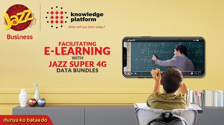 """e-Learning - Jazz, Pakistan's leading digital service provider, has partnered with Knowledge Platform (Private) Limited, Pakistan's leading education technology company, to facilitate e-Learning amidst the ongoing COVID-19 pandemic. As per the collaboration, Jazz has introduced a special data bundle providing 10 GB in just Rs 150 whereby over 270,000 students in 100 cities can access Knowledge Platform's e-Leaning portal and mobile applications for the entire month. All prepaid customers of Jazz who are registered with Knowledge Partner can avail this data bundle by dialing *778#.  This collaboration is an initiative of Jazz Business, which has the largest and most comprehensive portfolio of B2B ICT services and is currently serving 95 of the top 100 Pakistan Stock Exchange (PSX) listed companies. As schools set up virtual classrooms to continue their courses online following nationwide closure of educational institutes, students and parents are looking for a steady and cost-effective connectivity solution.  Identifying this as an urgent need, Jazz is utilizing its mobile broadband solution to provide access to some of the best online learning resources available on Knowledge Platform's portal and mobile applications, giving students the chance to learn and develop while away from their schools.  """"Providing fast 4G services has been our forte, now we seek to transform how we learn by introducing cutting-edge technology to our e-learning platform too,"""" said Syed Ali Naseer, Chief Business Officer at Jazz. Talhah Khan, Knowledge Platform's CEO, noted, """"The new normal in education requires a fundamental change in the way students are engaged remotely through innovative educational products. Access to the internet and devices is a big challenge in Pakistan. We are happy to take our first step to partner with Jazz for affordable internet access."""" Jazz has previously worked with Knowledge Platform on its Jazz Smart School project – a smart learning solution to the traditi"""