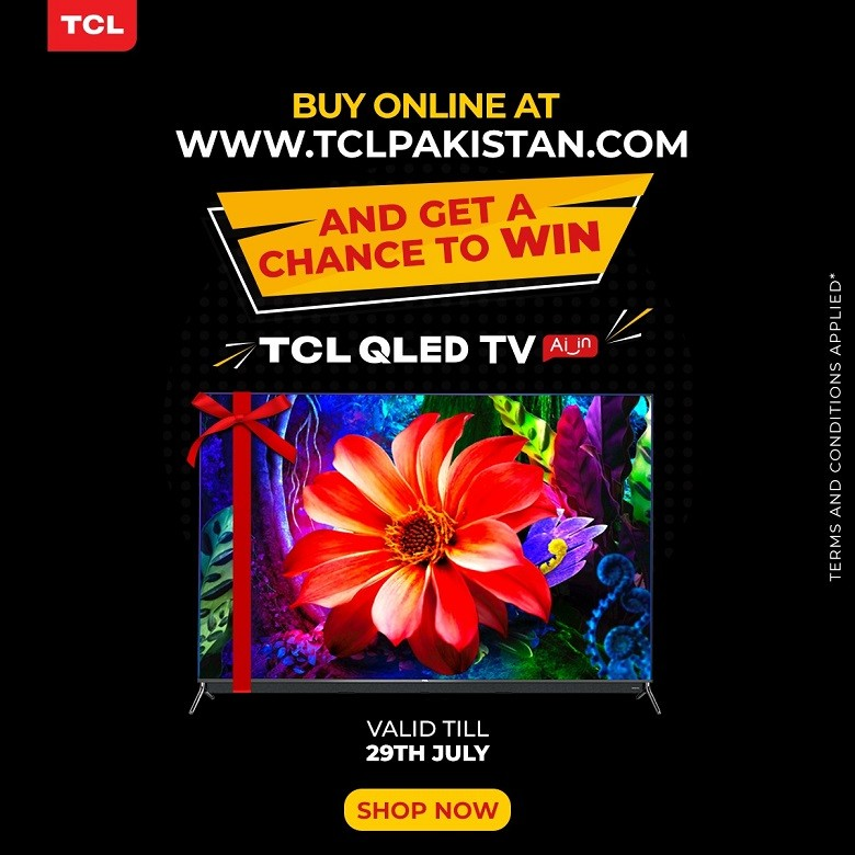 """TCL Pakistan - After receiving an amazing response on the launch of TCL's QLED range, TCL is opening its doors once again for the biggest Eid sale of the year. The Bari Eid sale will last till July 29, 2020 and has a lot in store for consumers. Along with the offering discounts on a variety of LED TVs and ACs, the shopping fiesta is also giving a chance to win a brand new 55"""" C815 QLED TV via lucky draw. To participate, a consumer just has to purchase any product from tclpakistan.com and gain entry to the draw. People will be able to participate in this mega campaign enabling them to get great offers on all of TCL's AC and TVs. TCL has successfully cultivated strong brand-loyalty by offering its consumers with high-value products, further illustrated in the launch of it latest QLED TV range which is also available on the website. Majid Niazi the Marketing Manager of TCL said, """"We are extremely proud of our long relationship with our consumers. With the Bari Eid sale, we want to enhance the customer experience by offering big discounts on all of our ACs and TVs. This year's sale has a lot in store for the consumers, especially with the chance to a win a brand new QLED TV""""."""