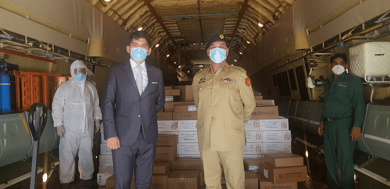 Uzbekistan - Uzbekistan has donated 25 metric tons of protective gear and medicines to Pakistan as an aid to fight the Coronavirus (COVID-19) pandemic. The Charge D'affaires at the Embassy of Uzbekistan in Pakistan Lt. Colonel Sadullah Tashmotov handed over the consignment to the National Disaster Management Authority (NDMA). Since February 16, a total of 259,998 people have been infected in Pakistan by the Novel Coronavirus while 5,475 have succumbed to it, making it the 12th most affected Country around the World. However in recent days, the Country has witnessed a decline in number of Coronavirus Cases as on June 19, it registered 6,604 Cases and now the number has plunged to 2,085 as recorded on July 16. In a statement on Twitter, Prime Minister Imran Khan said Pakistan is amongst the fortunate Countries where COVID-19 Cases in hospitals especially in intensive care and the death rate have gone down unlike in our unfortunate neighbor India. The prime minister said that this positive trend has been the result of our smart lockdown policy and the nation observing government's standard operating procedures (SOPs).