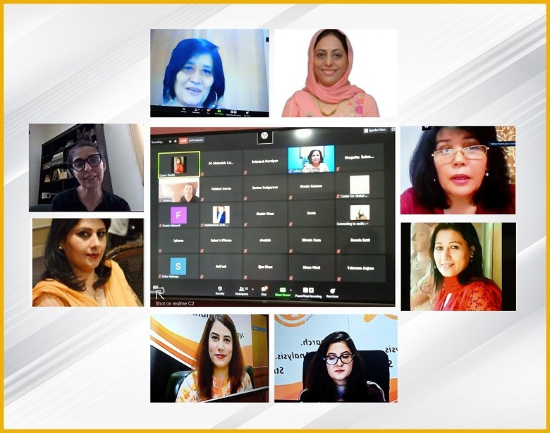 """Pak-Uzbek Business Women - THE PLATFORM by the Center for Global & Strategic Studies (CGSS) and the Uzbekistan Women Association jointly organized a Webinar on, """"Opportunities for Pak-Uzbek Business Women"""" to discuss the entrepreneurship opportunities for women of both Countries. Ms. Mehreen Gul, Director, CGSS commenced the webinar and stated that Pakistan and Uzbekistan share a common culture and both countries have countless opportunities of business for each other. Women entrepreneurs have immense potential and only need a proper platform. THE PLATFORM by CGSS is willing to provide this platform for women of both Uzbekistan and Pakistan. Dr. Shehla Javed Akram, Founder, All Pakistan Women Chamber of Commerce & Industry, shared that in the beginning women were very reluctant to join businesses as there were social constraints and obstacles and to overcome these issues, a separate chamber for business women was initiated. She further highlighted the flexibility and potential of business opportunities in the pharmaceutical industry and stated that this is one of many sectors in which women of Uzbekistan and Pakistan can cooperate. Ms. Gulnara Makhmudova, Chairperson of Business Women Association, Uzbekistan stated that women in Uzbekistan are very active in business. She highlighted that they started from 4-5 women and now have more than 16000 women attached with the Women Association. She commented that despite of many opportunities available in Uzbekistan for business there is still a lack of training and awareness when it comes to entrepreneurship, and in this sector, Pakistan can be of great help if we provide trainings and awareness sessions to business women in Uzbekistan. Ms. Naheed Memon, CEO, Oracle Power PLC & Former Chairperson Sindh Board of Investment, Pakistan gave a comprehensive overview of the industries and sectors where women from Uzbekistan and Pakistan can work together to better utilize the natural resources available in both countries like Co"""