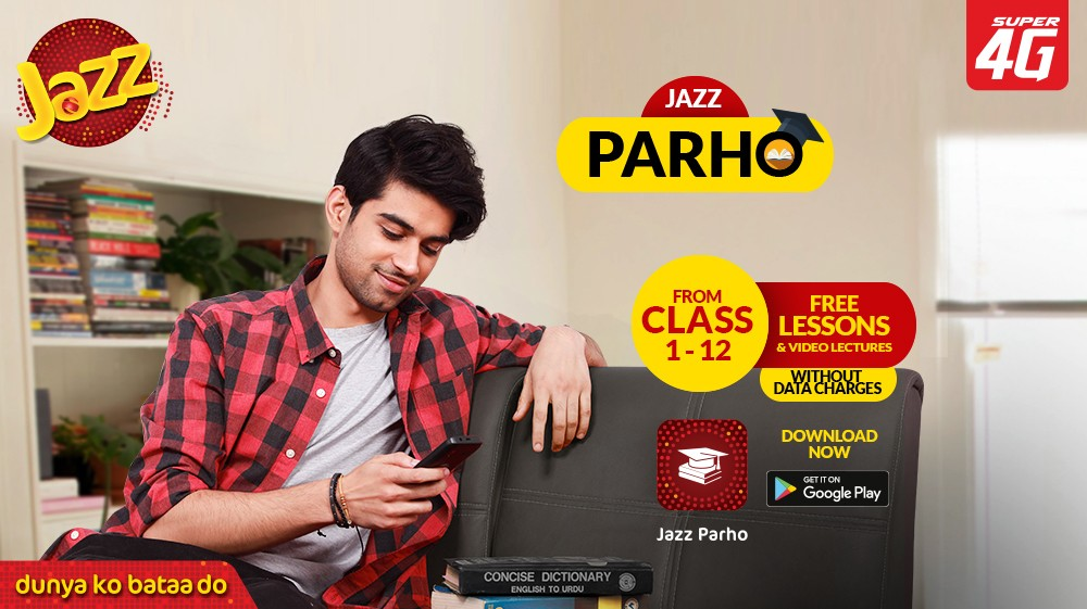"""Jazz Parho - Under the umbrella of its recently launched """"Jazz Parho"""" campaign, Jazz, Pakistan's leading digital company, is actively working to provide remote learning opportunities to students as educational institutes remain closed during the COVID-19 pandemic. The campaign includes affordable weekly and monthly data & voice packages, an android app with the name Jazz Parho, and the world's most affordable 4G Phone – Digit 4G. Like most countries in the world, Pakistan closed its schools and universities in March to limit the spread of coronavirus. As these institutions turn to online learning, subsidized Internet is required to facilitate digital learning and help students save on learning costs. To solve this issue, Jazz has introduced discounted weekly and monthly bundles to facilitate students so that they can resume online classes with uninterrupted connectivity. The monthly supreme bundle provides 20 GB of data at a 50% discounted price of PKR 444, whereas the weekly study from home bundle caters specifically to the need for online classes by offering 10 GB of data and unlimited voice at a reasonable price of PKR 95. Similarly, in support of students without access to mobile learning tools e.g. smartphones or PCs, Jazz is promoting the use of the world's most affordable smart feature phone, the Jazz Digit 4G. The phone is available at all Jazz Experience centers, franchises, and retail shop for the price of PKR 1,799.  Jazz has also launched an education application called Jazz Parho. This application gives students access to useful learning resources with a wide range of video lectures and quizzes for classes 1-12. There are no data usage and subscription charges to use this app, which is available on Google Play store for download. """"At the moment the technologies used for mobile learning are not universal in Pakistan. Unfortunately, the pandemic has exacerbated the already prevalent digital divide in the country. Many students particularly from vulnerable"""