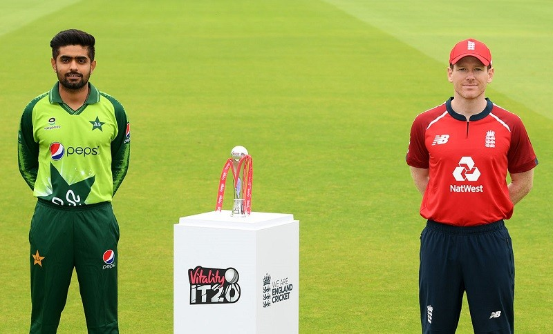 PTV Sports Live - With a rejuvenated resolve and hope following the Test Series debacle, Pakistan has flexed its muscle to face England in the upcoming three T20 Internationals. The three-match T20I series between Pakistan and England will kick off on Friday with the inaugural encounter at Old Trafford in Manchester. The first T20I will begin at 10:00 pm according to the Pakistan Standard Time (PST). The two teams have so far locked horns with each other 15 times in T20Is from 2006 to date. Last time, they met at Cardiff on May 5, 2019 in which Eoin Morgan-led England thrashed Pakistan by 7 wickets. The 2nd ICC's top-ranked England have so far succeeded to assert their dominance over fourth-ranked Pakistan as in the previous 15 T20Is, they held the record of 10-4. It's Pakistan and England's third bilateral T20I Series consisting of three matches. Previous both three-match Series took place in the United Arab Emirates (UAE) in February 2012 and November 2015 respectively and ended in England's favor. However, now Pakistan would be led by a new Captain Babar Azam who is also currently the ICC's top-ranked batsman. For the first T20I, Pakistan's Playing XI will possibly include the following; Babar Azam, Fakhar Zaman, Haider Ali, Shoaib Malik, Mohammad Rizwan or Sarfraz Ahmed (as Wicket Keeper), Iftikhar Ahmed, Imad Wasim, Shadab Khan, Mohammad Amir, Wahab Riaz, and Shaheen Shah Afridi. The second and third match of the three-match T20I series will be held at the same venue on August 30 and September 1 respectively.