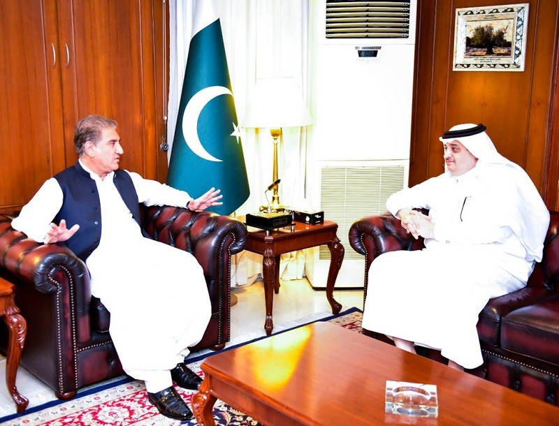 Saudi Foreign Minister - The Saudi Ambassador to Pakistan Nawaf bin Saeed Ahmad al- Maliki visited the Ministry of Foreign Affairs in Islamabad on Monday, and held a meeting with the Foreign Minister Shah Mahmood Qureshi. During the meeting, the two dignitaries held a discussion on Pakistan-Saudi Arabia bilateral relations, the promotion of bilateral cooperation in various fields, and various issues of mutual interest. They also exchanged views on the expected visit of the Saudi Foreign Minister Prince Faisal bin Farhan Al Saud and the Minister of Energy Abdulaziz bin Salman Al Saud to Pakistan. Qureshi said that he is desirous to meet both the visiting Saudi dignitaries upon their arrival to Pakistan. The foreign minister said that both Pakistan and Saudi Arabia are enjoying deep-rooted cordial and historical ties. Shah Mahmood Qureshi said that the sanctity of the two holy shrines is part of the faith of every Muslim. He said that Pakistan will stand side by side with Saudi Arabia to safeguard the latter's territorial integrity.