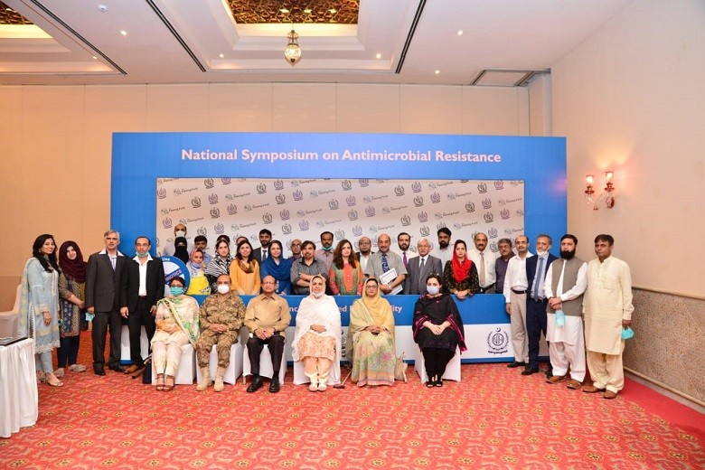 """AMR - The National Institute of Health (NIH) in collaboration with Fleming Fund Country Grant to Pakistan conducted a two-day semi-virtual National Symposium on Antimicrobial Resistance (AMR) to provide a platform to understand the challenges, impact, and progress of AMR in human, animal and environmental health sectors across Pakistan.  AMR is one of the biggest public health threats in the world today. It represents the capability of microorganisms to evolve in such a manner as to render the antimicrobials we have long used against them as ineffective. While chairing the National Virtual Symposium, Executive Director NIH Maj General Professor Aamer Ikram said, """"It is a fact, not everyone is aware that antibiotics need to be used in an appropriate manner to prevent the emergence of the resistant superbugs. This kind of a symposium has provided a much-needed platform for the key stakeholders to sit together and introduce massive changes to the present practices of the use of antimicrobial agents in human, animal and environmental health sectors under a collective One Health approach."""" As a commitment to the World Health Assembly Resolution 2015 (WHA68.7), Pakistan had developed its National AMR Framework, National Action Plan (NAP) and a multisectoral National AMR Steering Control Committee in 2017. Keeping in view the importance of the issue, the Government of Pakistan has approved funding to launch the National Program on AMR and IPC based at NIH. The National Virtual Symposium on AMR provided all the key stakeholders an opportunity for further proceeding. The representatives from MoNHSR&C, MoHFS&R, MoCC, provincial health and livestock departments, academia, international organizations, private organizations, hospitals, clinicians, politicians and bureaucrats attended the Symposium. """"The Government of Pakistan is committed to play its part in the global disease control programs more effectively and stand alongside the global community in their effort to reduce th"""