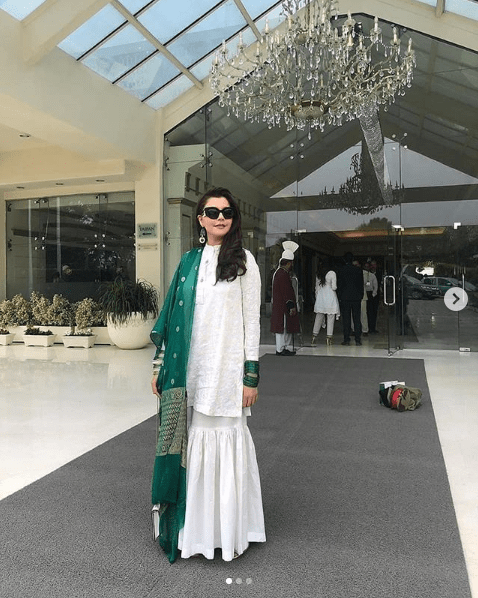 The people of Pakistan celebrated the 74th Independence Day on this Friday with great zeal and patriotic spirits. Everyone was well-prepared to make this day memorable by dressing up in green and white. Similarly, our celebrities also made sure to depict their patriotism in green and white attire. The bright smiles on the faces with an elegant dress for Independence Day celebrations, there celebrities' pictures are on the whole a tell-tale. Check out these amazing pictures from Independence Day celebrations shared by celebs on Instagram! Ayeza Khan's Dress for Independence Day The ever-gorgeous icon of Drama Industry, Ayeza Khan has surprised everyone this year with an amazing look on Independence Day. Ayeza Khan dressed up to depict the essence of the women who struggled for Pakistan's independence. She wore pure white dress while covering her head in a traditional way. Check out one of the clicks she posted on Instagram! Danish Taimoor Ayeza Khan's husband, actor and host Danish Taimoor also posted a picture on his Instagram while extending Independence Day wishes. Hadiqa Kiani One of the most popular and talented singers till the date, Hadiqa Kiani made it go a different way. She posted a picture in green dress while kneading flour to make chapattis for her family. Hadiqa warmly wished Independence way and opted to stay naturally homey in her click. Humayun Saeed The brilliant actor of all-times, Humayun Saeed posted a picture in such a way that it looked like his reflection. This creative click depicts his patriotic spirit as well as he captioned it with Independence Day wish. Here it is to mention that Humayun Saeed has been announced for Pride of Performance Civil Award by Govt. of Pakistan. Iman Ali The stunning beauty and famous model Iman Ali has also participated to express her sentiments for the country. She dressed up in green & white and posted the picture with Independence Day wish on her Instagram. Check it out! Mehwish Hayat The Tamgha-e-Imtiaz holde