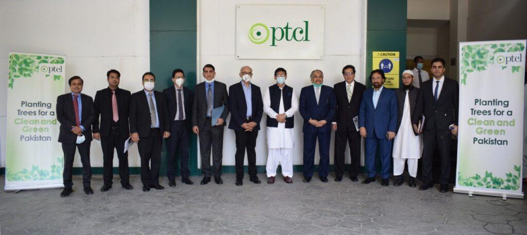 PTCL hosts Federal Minister & Secretary MoITT for the tree plantation drive