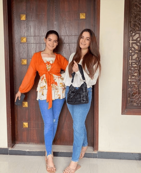 """Minal Khan and Aiman Khan are one of the sister's duo that we absolutely adore. No controversies, no sensational news, and no senseless comments on social media, both are always cheering each other for success and more. Both also started their clothing venture Aiman X Minal Closet together and it has been soaring to success. This is why we love seeing them together on social media.  They recently posed for the camera and we adore the pictures. Aiman And Minal Khan New Pictures Both the sisters posed for the camera together and they look exceptionally cute. These pictures came together a good time after they went on the trip together. What's more is that, as always, they were wearing their own fashion label and the color combination was just stunning. Here are the pictures:  Aiman Posed For The Camera Too Although both the above pictures were uploaded on Minal's account, Aiman did not shy away from posing for the camera as well. She uploaded two different pictures on her Instagram account with one of them captioned with the very apt phrase; """"Long time no see."""" That definitely is true. She had gone MIA after the trip with no proper updates on what we can expect on her social media accounts in the coming months.  Here are the pictures she posted:  A X M Closet New Collection These pictures were more than just the post update for social media. Minal also announced that after a long time a new collection for their venture is coming up soon. Possibly filled with more summer dresses good for the recurrent monsoon season, new clothing bombs will be dropped our way soon. We can only wait to find out what's more in store for us. The fashion game for the collections is always on-point just like the duo is, so we are obviously overexcited to get our hands on them."""