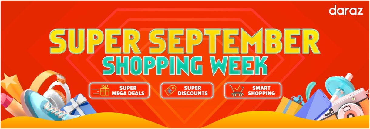 daraz - The Super September Shopping Week sale is now live on Daraz, offering customers an opportunity to grab the best deals and discounts and shop smarter. The leading ecommerce platform offers customers the opportunity to avail discounts upto 10% off through payment partners' weekly incentive programs including Visa Mondays, HBL Wednesdays, EasyPaisa Thursdays, Askari Bank Saturdays and Standard Chartered Sundays. Customers can also use their DarazWallets to avail upto a further 5% discount on Tuesdays. Daraz has also enabled customers to make informed purchasing decisions by reading customer reviews and communicating with brands and sellers through Instant Message. Seller ratings and reviews provide the following information to buyers before they make a purchase: the sellers success rate for shipping on time, the percentage of positive ratings the seller has received and the seller's chat response rate – all important points through which customers can gauge the experience of other customers. Through the purchase protection policy, Daraz ensures that customers have a safe and secure experience on the platform and remain protected from fraud and scams. The online shopping platform does not ask customers to share their personal information. Sellers or any other representatives of Daraz will never contact customers to ask for their OTP (one time password), your card number, card expiry date, email, passwords or any other confidential information. Daraz also does not ask customers to conduct payments and transactions outside Daraz via money order, wire or bank transfer, bar codes or other means. Over the past few months, Daraz has increased focus on improving customer experience and recently the platform launched a free returns pickup service in Karachi, Lahore, Islamabad and Rawalpindi to make the returns process more convenient for the customers. In order to the make the most of the sale, Daraz encourages customers to avail incentive programs, take into considerat