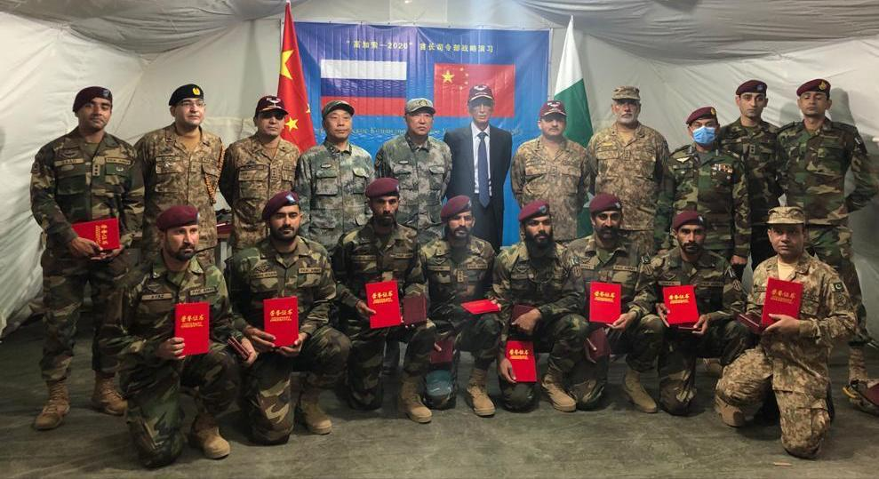 Pakistani delegation headed by Pervez Khattak, Defence Minister witnessed multinational exercise KAVKAZ 2020 at Astrkhan, Russia.