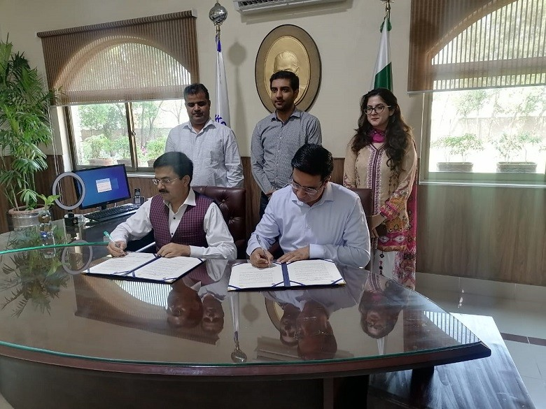 University of Sialkot - The Center for Global & Strategic Studies (CGSS) and the University of Sialkot on Tuesday signed a memorandum of understanding (MoU) for mutual cooperation. The Executive Director CGSS Lt Colonel (retd) Khalid Taimur Akram and the Vice Chancellor University of Sialkot Professor Dr. Saeed Ul Hasan Chishti signed the MoU on behalf of their institutions. Under the MoU, both institutions agreed to facilitate cooperation in the areas of mutual interest and to explore opportunities to involve academia in the multilateral fields. It was decided that the CGSS and the University of Sialkot will collaboratively work in the field of research and other activities related to the Eurasian region. Furthermore, cooperation in academic and industrial research will also be initiated. The University of Sialkot's Vice Chancellor Professor Dr. Saeed Ul Hasan Chishti and the Pro-Vice Chancellor Professor Dr. Naeem Ahmed Chaudhry appreciated the active role of the CGSS in enhancing regional connectivity and promoting the positive and national interest of Pakistan.