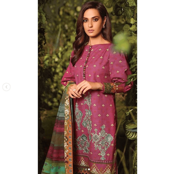 Iqra Aziz Grabs Attention With Her Latest Classy Photoshoot for Al Karam!