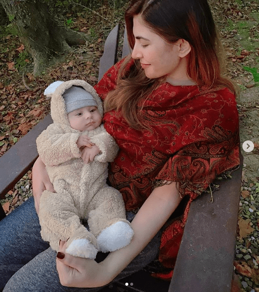 """Hamza Ali Abbasi and Naimal Khawar have recently welcomed a new family member to their life and the cutest one. Mustafa, the cute baby boy of the most famous couple in the showbiz industry has been the center of attention since his birth. Hamza and Naimal keep on sharing some beautiful clicks from the moments they are spending and enjoying with Mustafa. Now here we have got one today as well. Check out this adorable click! Naimal Khawar Shares Cutest Click of Mustafa! Naimal Khawar has shared the cutest picture of her baby boy Mustafa in which he is dressed up in a furry romper. The camera has caught the moment when Naimal was looking all in love with her baby in the lap. Her affectionate expressions are enough to say it all about a mother's love. Check out these clicks that will melt away your heart in seconds. The baby Mustafa is all in a spell of enjoying the beauty and serenity of nature along with her beautiful Mom. Naimal has captioned these clicks as, """"Nature baby."""" Some More Family Clicks from Instagram Here we have got some more clicks of this perfect family to make your day! These pictures depict that Mom, Dad, and Baby Mustafa, all are fond of exposure to nature. Taking a flashback to the golden moment, Hamza Ali Abbasi announced the news of baby's arrival on August 2, 2020. He penned this announcement as: """"ALLAH HAS BLESSED ME AND NAIMAL WITH A BABY BOY, MUHAMMAD MUSTAFA ABBASI. I PRAY THAT HE BECOMES A GRATEFUL SERVANT OF ALLAH, A GOOD, HUMBLE & HONEST HUMAN BEING, AND MAY ALLAH BLESS HIM IN THIS LIFE AND THE NEXT. PLEASE PRAY FOR US."""" On the other hand, the """"Anaa"""" actress, Naimal Khawar shared a picture of the child holding her hand on Instagram. In the caption alongside the picture she wrote: """"THE MOST PURE FORM OF LOVE"""" We wish a very happy life to Hamza, Naimal and Baby Mustafa throughout!"""