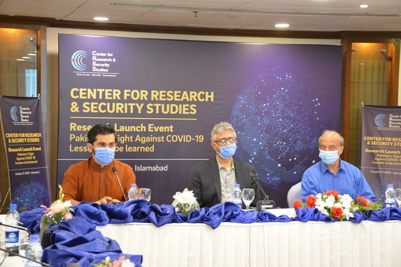 """Pandemic winter – The Prime Minister's Special Advisor on Health Dr. Faisal Sultan has said that there is already a slight but definitive rise in COVID-19 cases but the second wave, the so-called """"winter pandemic"""", can be avoided with the right efforts and precautions.  While speaking at the research launch of the report """"Pakistan's Fight against COVID-19"""" by the Center for Research and Security Studies (CRSS) in Islamabad on Thursday, Dr. Faisal Sultan said that the threat of COVID is ever-present, and with respiratory diseases traditionally gaining momentum in the winter, caution is ever more necessary. Dr. Faisal Sultan said that the initial polar public perception has now been transformed into unipolar perception in favor of smart lockdowns.  The Special Assistant further remarked that countries with similar socioeconomic infrastructures have not fared well, in addition to countries where federal structures have been devolved. Regarding the vaccine, he said that if and when available, Pakistan will prioritize subsets of the population first, such as those at high risk and frontline workers. He said that we have to carefully allocate resources for vaccination as Pakistan does not have the sufficient resources to invest in all the global vaccination efforts.  The advantage Pakistan has is that our polio vaccination teams can quickly and efficiently inoculate the population, though unlike polio, it will not be a simultaneous, mass effort. The CRSS report states that Pakistan has, against all forecasts and odds, bent the COVID-19 curve in its favor. Broadly speaking, the creation of a central mechanism for all coordination, collation, decision-making and implementation in the form of the NCOC, piggybacking on the polio surveillance network, and dramatically ramping up healthcare infrastructure resulted in Pakistan's strong response to the pandemic. The Special Assistant said that despite the demonstrable success of the curbing mechanisms, this is no time to celebrat"""