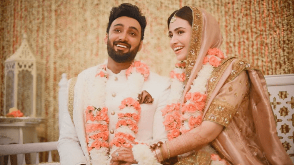 """Sana Javed and Umair Jaswal recently tied the knot in an intimate ceremony, leaving us all stunned. Though there were speculations and rumors surrounding the two, we never actually got to see them together and get the much-anticipated confirmation. Moreover, Sana kept her quiet always while Jaswal denied any relationship. Hence, the sudden news of this marriage has left us all shocked albeit pleasantly. We wish both of these celebrities the best and love for their life ahead. Both of them have a huge fan base, which is left excited because of this news. This is why here is a timeline of their relationship most of the fans yearn to know: Sana Javed & Umair Jaswal's Relationship By the end of 2019, the rumors of the couple's relationship started surfacing over the web. We hadn't actually seen them together but Sana's friendship with the Jaswal brothers wasn't new news. This news further solidified when she sent him a birthday cake to Umair on his special day. She sent him a sport bike-themed cake in his favorite colors to which Jaswal replied that he loved it and she just gave him an idea for his new bike. Here is the screenshot of the exchange that happened on social media:  Soon after, the insiders revealed that the duo was dating and was exclusively in a relationship. But we still didn't see the two together or heard anything official. Marriage Rumors  In early 2020, the rumors started surfacing that the couple is tying the knot in 2020. The news close to the sources revealed that both of them were serious and extremely in love. Once again, the couple didn't comment and stayed silent.  The rumors subsided after some time, but the news of two seeing each other surfaced on social media now and then, Umair Denying The Rumors The big hiccup came when in July this year Umair, in his interview, revealed that Sana and he were really good friends. He denied any sort of relationship or marriage plans on the media.  """"Me and Sana Javed have been best friends for a very long t"""