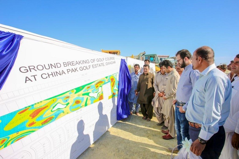 """9 Hole Golf Course - The first-ever 9 Hole Golf Course was inaugurated on the N10 Coastal Highway in a Ceremony at China Pak Golf Estates in Gwadar on Friday. The Golf Course which was previously planned to be 6 Holes has been upgraded to a feature 9 Hole Golf Course and is expected to be completed on a fast track basis within 18 months. The feature Golf Course which will be Gwadar's first is located within a luxury residential community by the name of China Pak Golf Estates by CPIC Global. The Inauguration Ceremony was carried out on-site by the Director Gwadar Development Authority (GDA) Shahid Ali who said on the occasion """"This is a very exciting time in the development of Gwadar. Golf Courses are an integral feature of international cities and the inauguration of this golf course at China Pak Golf Estates is a testament to Gwadar's rapid development under the patronage of the Chief Minister Jam Kamal Khan and the Director-General GDA Shahzeb Kakar who have prioritized the cities development."""" """"As the governing authority in Gwadar, we recognize the private sectors potential and will support credible investors coming into Gwadar to be part of the cities rapid development,"""" Shahid Ali said. The Chief Engineer at China Pak Golf Estates Waqas Moazzam said """"We are leading the way in developing Gwadar. After finishing development and infrastructure works at our first project International Port City, development works are now underway at full speed at the mega China Pak Golf Estates project which is spread over 6.7 million square feet."""" """"As the city develops China Pak Golf Estates will be the premier residential community in Gwadar and upgrading the golf course from a 6 Hole Course to a feature 9 Hole Golf Course is a testament of our commitment to excellence in Gwadar,"""" Waqas Moazzam added. The groundbreaking ceremony was attended by senior dignitaries from the Gwadar Development Authority including the Assistant Director GDA Nadir Baloch, local businessmen, and offici"""