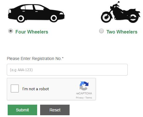 Online Vehicle Verification - Steps for Vehicle Registration
