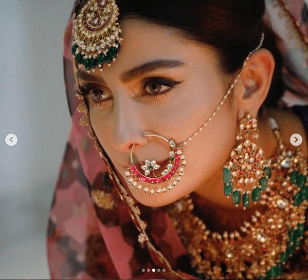 Ayeza Khan Flaunts Perfection In Latest Vibrant Bridal Photoshoot!