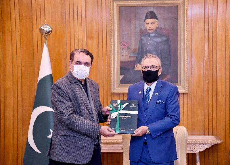 National Commission for Human Development - The National Commission for Human Development (NCHD) has introduced Primary Education in 100 Madaris (Religious Seminaries) in Islamabad Capital Territory (ICT), Azad Jammu and Kashmir, Gilgit-Baltistan and erstwhile Federally Administered Tribal Areas (FATA). It was apprised to President Dr. Arif Alvi by the Chairman NCHD Colonel (retd) Dr Amirullah Marwat in a meeting held at Aiwan-e-Sadr in Islamabad on Tuesday wherein the latter presented the annual report of the Commission to the former who is the Patron-in-Chief of the NCHD. In the meeting, the president was also apprised that the NCHD has also imparted training to 189,000 literacy teachers/supervisors in literacy and social mobilization. Besides, the NCHD has established 10,937 feeder schools with 15,000 teachers in remote and far-flung areas of Pakistan. The Chairman NCHD also briefed the president about the future plans and role of the Commission in promotion of human development and primary education.  The president appreciated the efforts and role of the Commission in poverty alleviation and capacity building of teachers/supervisors. Dr. Arif Alvi asked the NCHD to work for promotion of universal primary education in the Country. He said that the NCHD needs to focus on out-of-school children by providing them formal and non-formal education.
