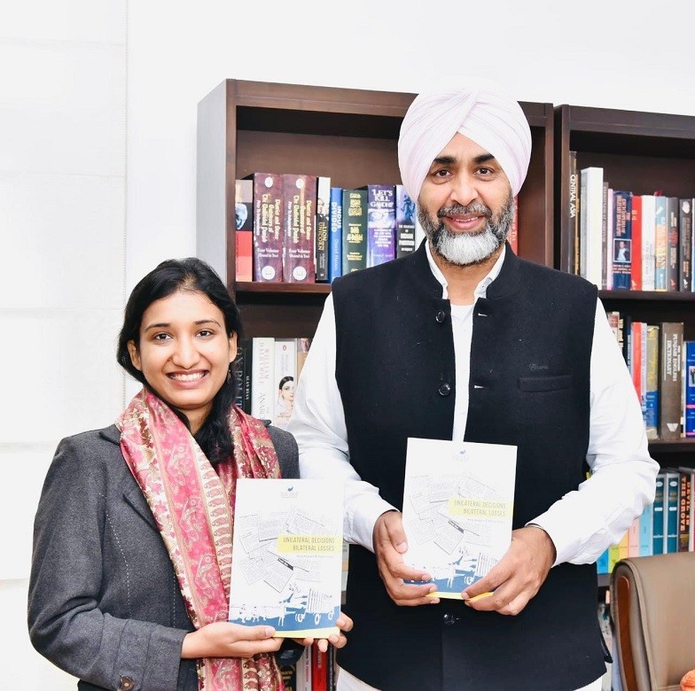 """Wagah-Attari trade - The Finance Minister of Indian Punjab Manpreet Singh Badal has said that the International Wagah-Attari trade route is not just a road between India and Pakistan but it is vital for prosperity and peaceful relations between both the neighbouring Countries.  """"I, on the behalf of Punjab government, will pursue the case to revive the Wagah-Attari trade with the government of India,"""" the minister said in his remarks after launching a book """"Unilateral Decisions Bilateral Losses"""" in Chandigarh. The book is written by Afaq Hussain and Nikita Singla, the Director and the Associate Director of the New Delhi-based think tank 'Bureau of Research on Industry and Economic Fundamentals (BRIEF)' respectively. Highlighting the losses on ground because of the suspension of Pakistan-India bilateral trade, Manpreet Singh Badal pointed out that this makes it evident how over time, trade has become crucial for the survival of the border economies, the revival of which could lead not just to prosperity but also lay the foundation for peaceful relations between India and Pakistan."""